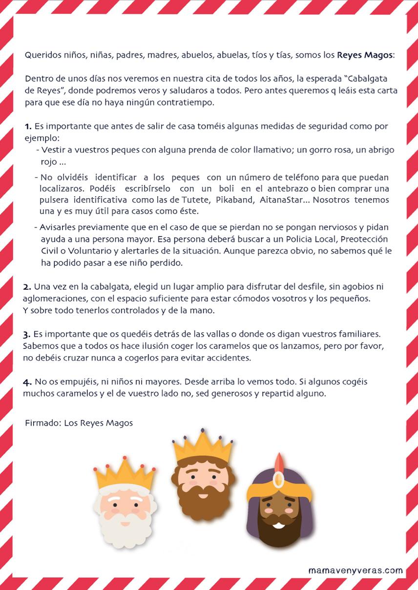 Cabalgata Fotos.Consejos De Seguridad En La Cabalgata De Reyes Mama Ven Y